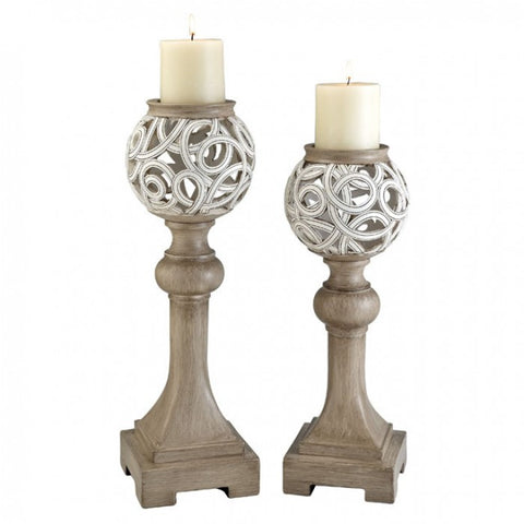 Krista Candle Holder Set L94241C-2PK - Pearl Igloo