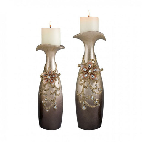 Margo Candle Holder Set L94248C-4PK - Pearl Igloo