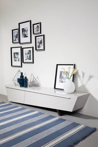 Modrest Barbara Contemporary Glossy Light Grey TV Stand VGWCTV048 - Pearl Igloo - 1