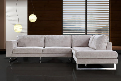 Divani Casa Milano - Modern Fabric Sectional Sofa VG2T0659 - Pearl Igloo
