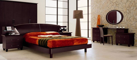 Modrest Miss Italia Composition 05 Italian Platform Queen  Bed Group VGCLMISSITALIA05 - Pearl Igloo - 1
