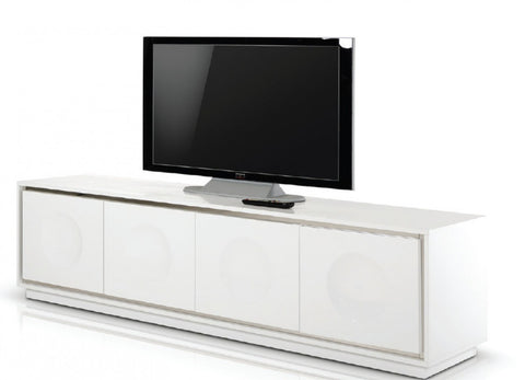 A&X Grand Modern White Crocodile Lacquer TV Stand VGUNCK6306-200-WHT - Pearl Igloo - 1