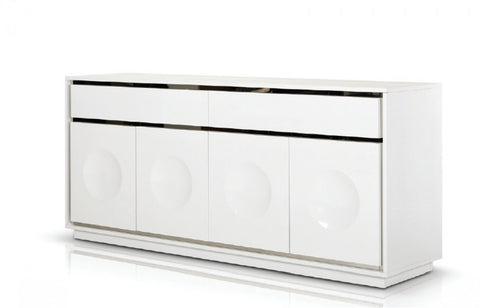 A&X Grand Modern White Crocodile Lacquer Buffet VGUNCC1308-180-WHT - Pearl Igloo - 1