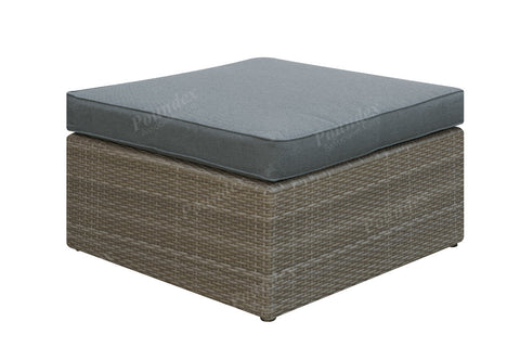 Poundex Outdoor Ottoman P50145 - Pearl Igloo - 1