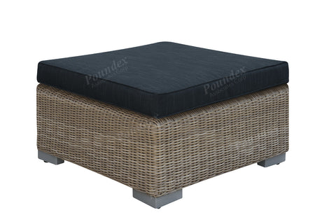 Poundex Outdoor Ottoman P50158 - Pearl Igloo - 1