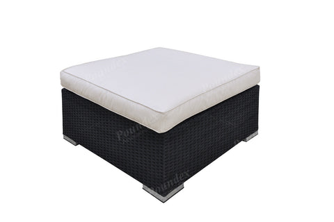 Poundex Outdoor Ottoman P50168 - Pearl Igloo - 1