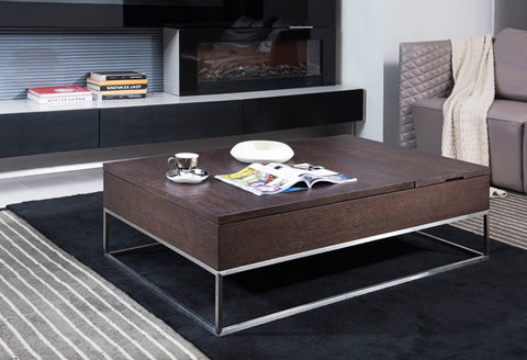 Modrest Contemporary Brown Oak  Coffee Table VGWCP509A-OAK - Pearl Igloo - 1