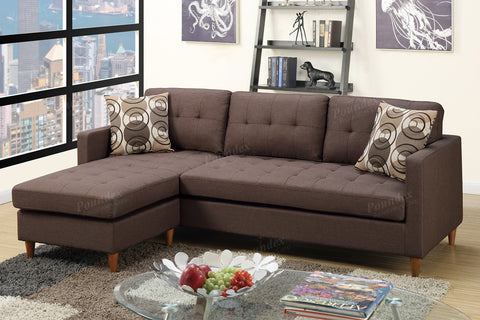 Poundex Sectional Sofa  F7086 - Pearl Igloo