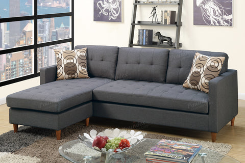 Poundex Sectional Sofa F7094 - Pearl Igloo