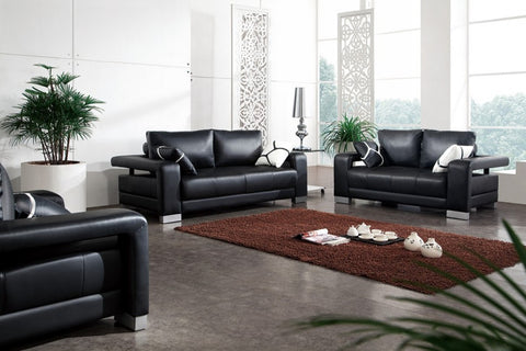 Bonded Leather Sofa Set Divani Casa 2926 Collection VGDM2926B-BL - Pearl Igloo