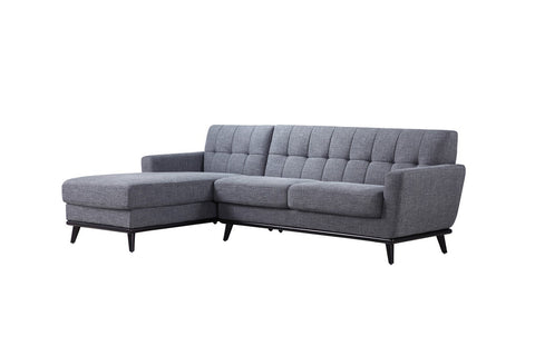 Divani Casa Corsair Modern Grey Fabric Sectional Sofa VGYIT380B - Pearl Igloo