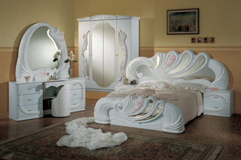 Modrest Vanity White Italian Classic Queen Bedroom Sets VGACCVANITY-WHT - Pearl Igloo