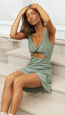 Lanie Dress (Sage)