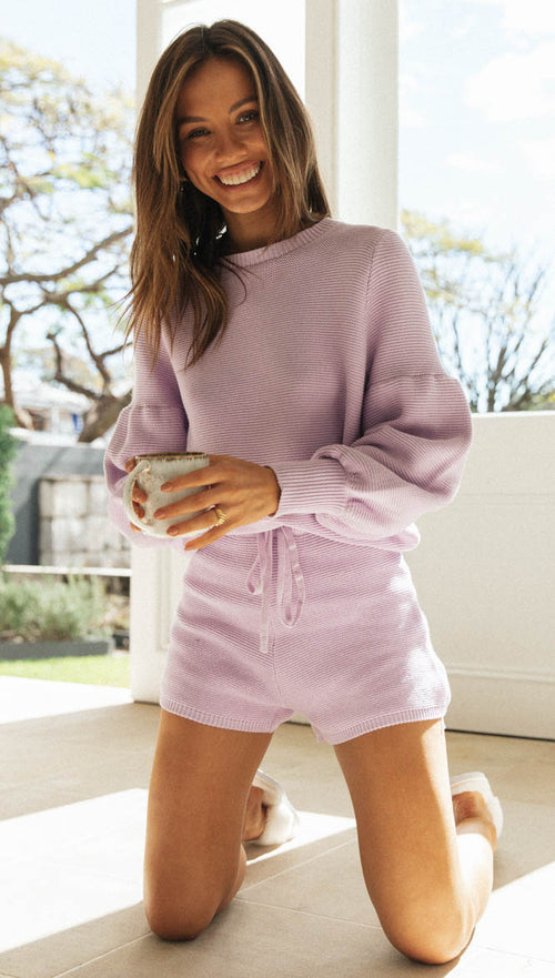 Amour Shorts (Lilac)