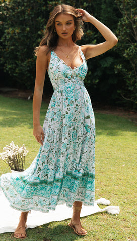 Caldera Maxi Dress (Turquoise)