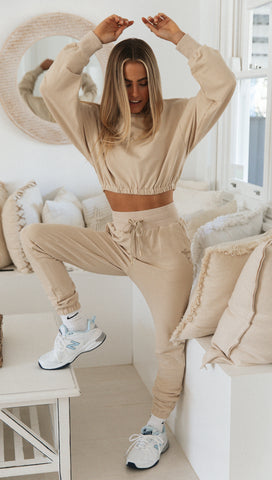 Tenley Track Pants (Sand)