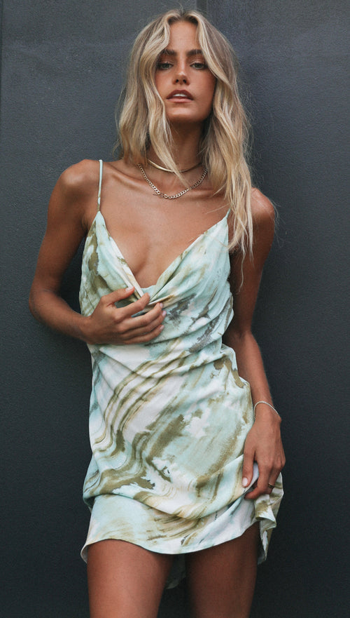 Ingrid Dress (Aquamarine)