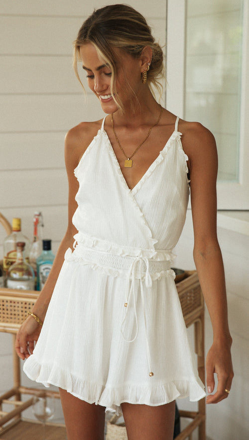 Wilma Playsuit (White)