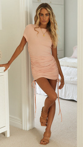 Indigo Mini Dress (Salmon)