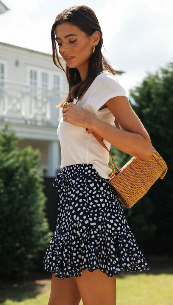 Lavender Mini Skirt (Navy)