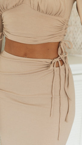 Georgette Skirt (Latte)