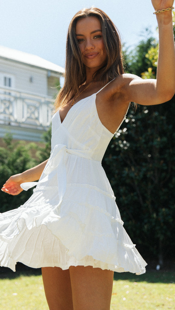 Sherry Mini Dress (White)