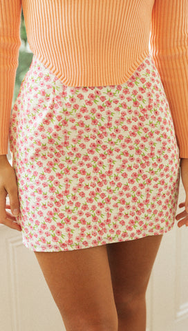 Slow Dance Mini Skirt (Rose)