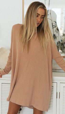 Lucy Tee Dress (Toffee)
