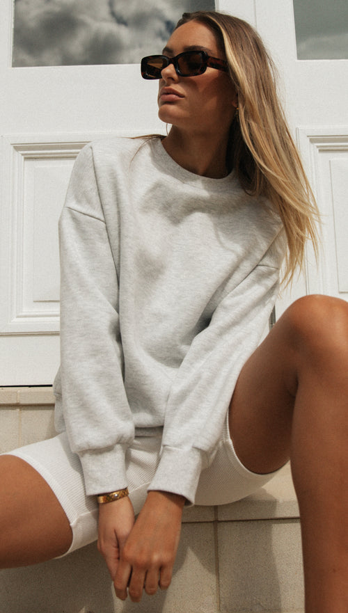 Toby Crew Neck Jumper (Grey)