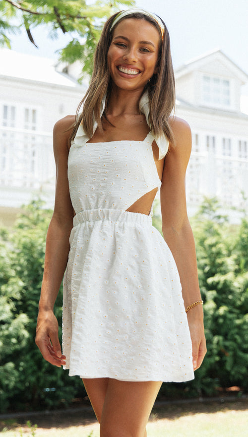 Bellis Dress (White)