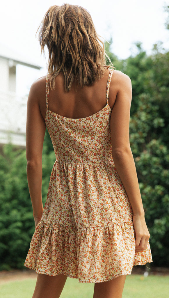 Lily Summer Dress (Californian Poppy)