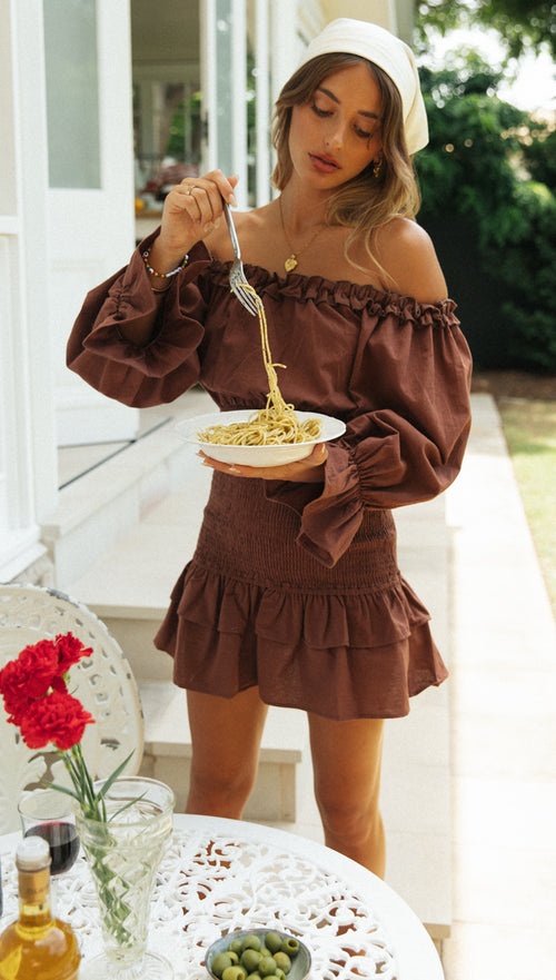 Alayna Dress (Chocolate)