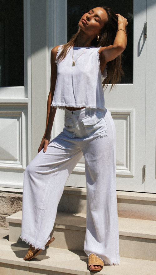 Kennedi Pants (White)