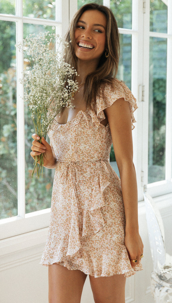 Claudette Dress (Nude)
