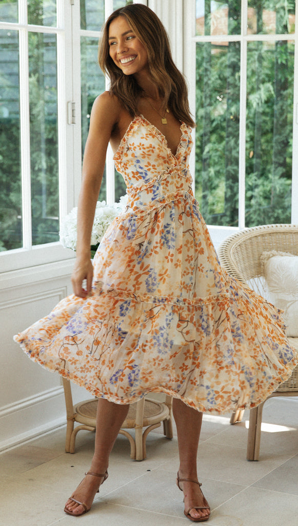 Claribel Dress (Apricot)