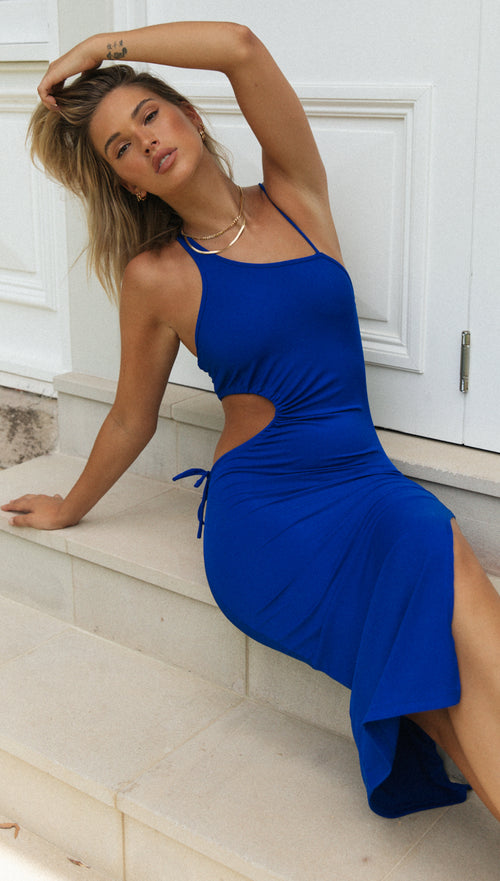 Ariana Dress (Electric Blue)