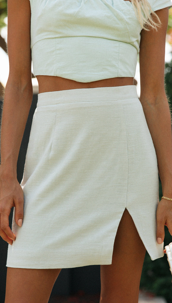 Frida Mini Skirt (Light Mint)
