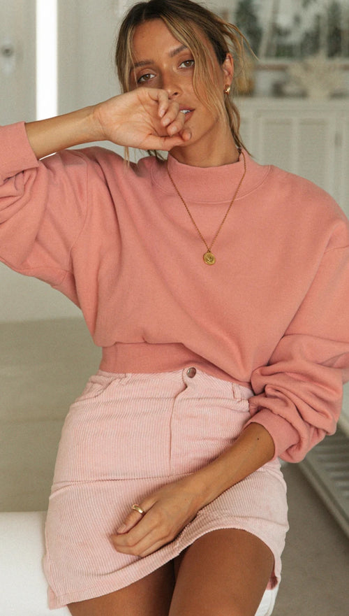 Walking On Sunshine Sweater (Soft Rose)