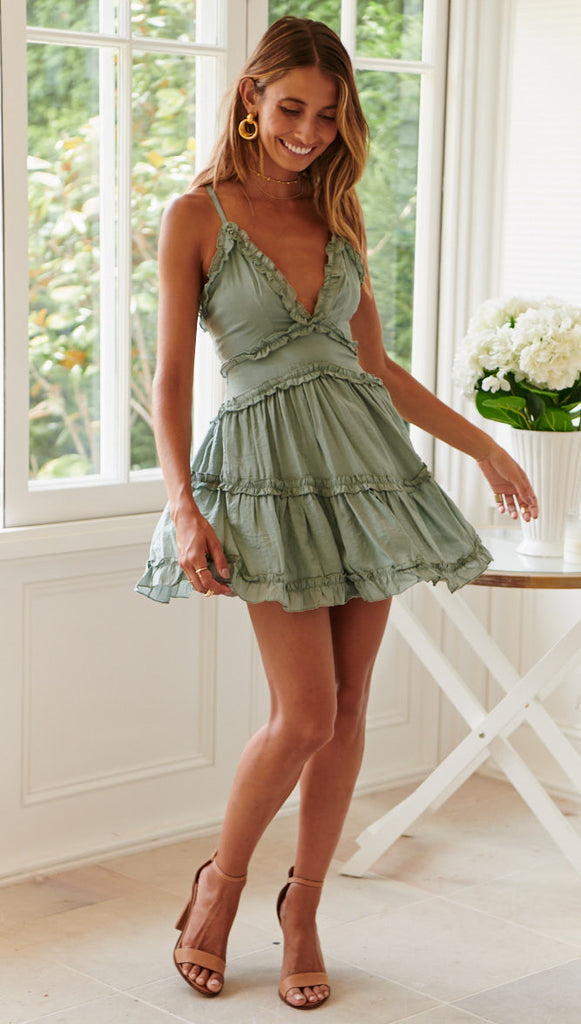 Thumbelina Dress (Olive)