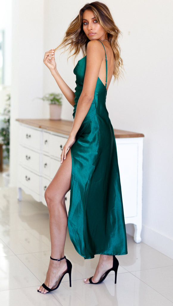 Pure Heart Dress (Forest Green) Sample Sale
