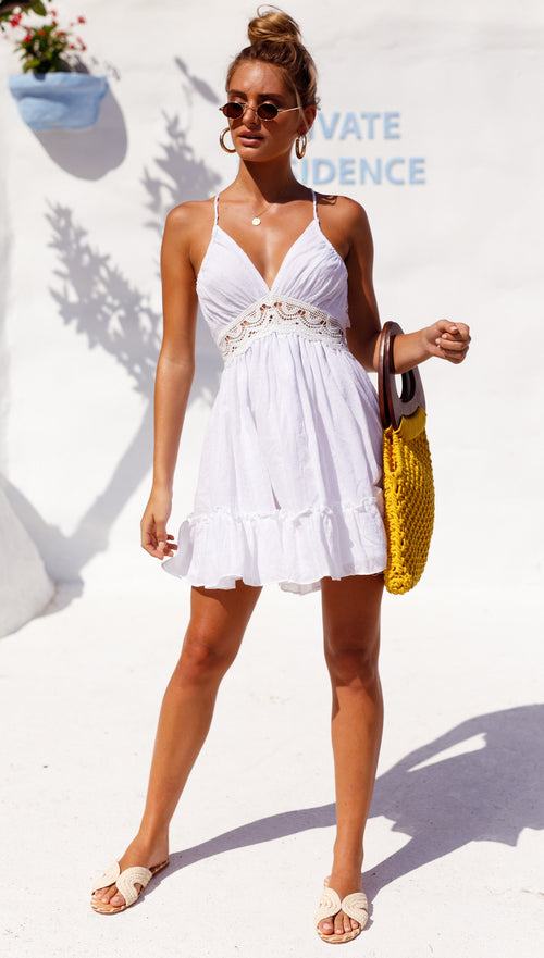 Lacing Light Dress (White)