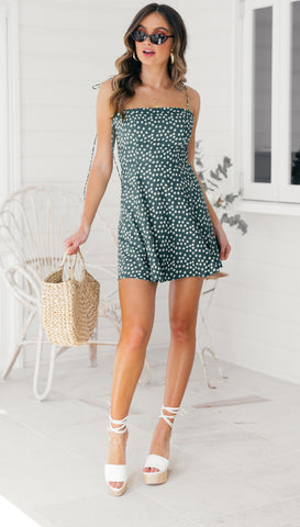 Elke Dress (Green Floral)
