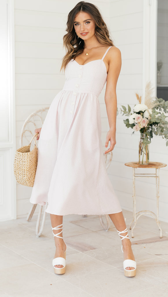 Sweet Pea Dress (Pink Gingham)