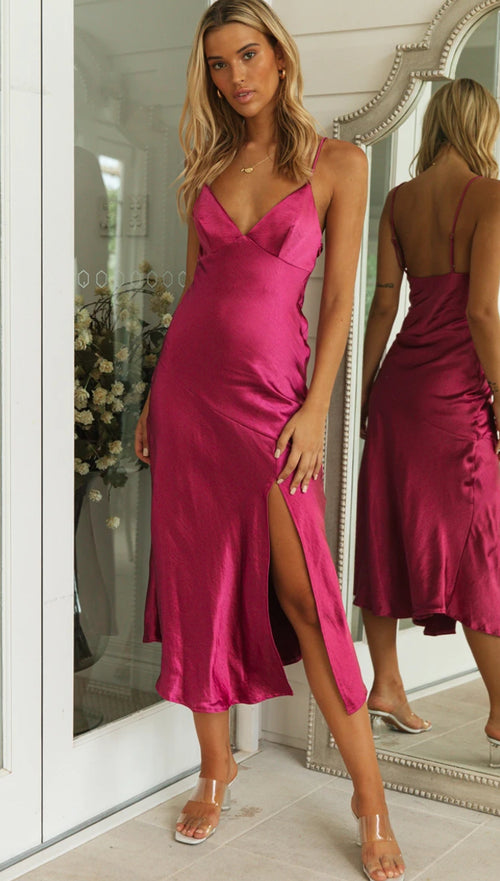 Orabelle Dress (Fuchsia)