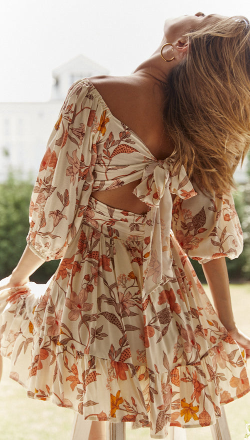 Beatrix Dress (Blush Floral)