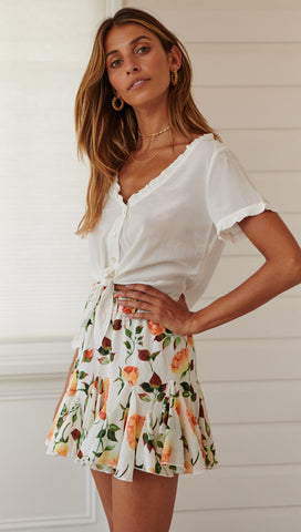 Orange Orchid Skirt