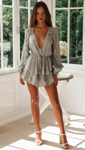 Girl Crush Playsuit (Olive)