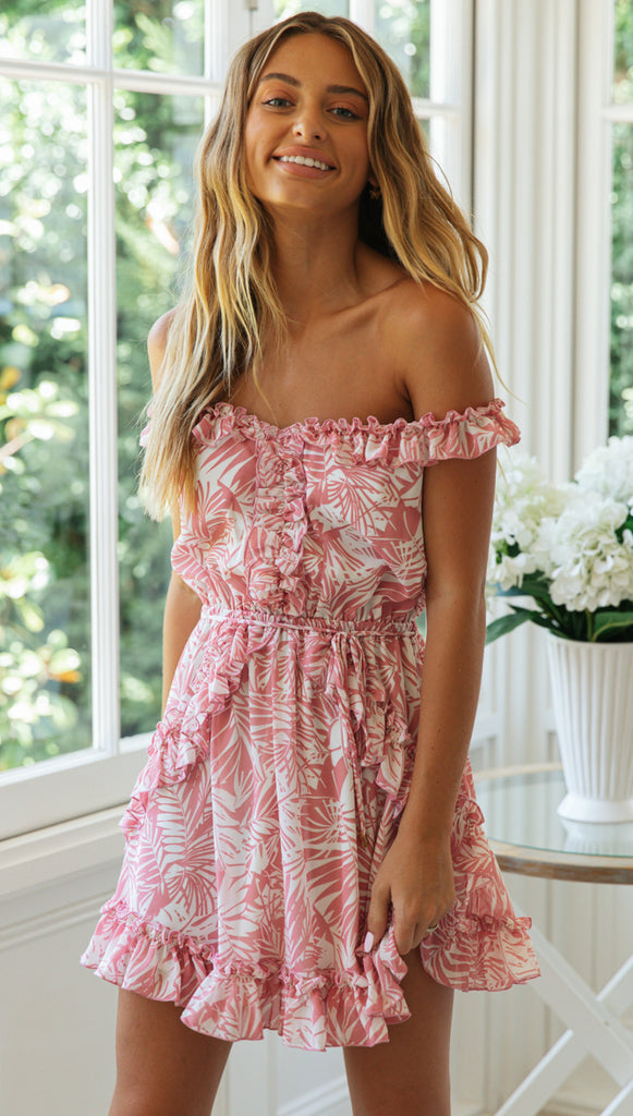 Breeze Mini Dress (Pink)