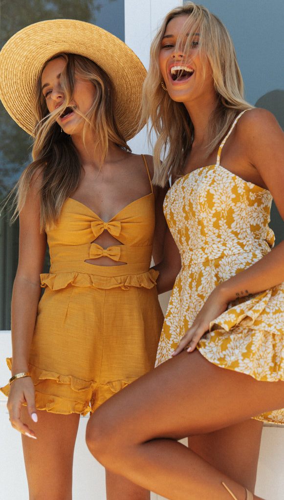 Dominica Playsuit (Mustard)