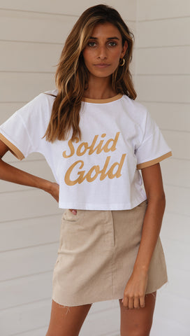 Solid Gold Tee